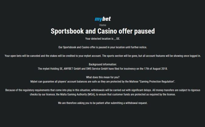 Mybet Sportwetten Übernahme