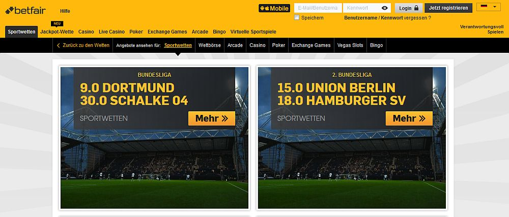 Betfair Quoten-Boost