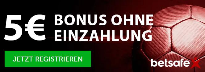 Betsafe Bonus Banner 5 Euro ohne Einzahlung