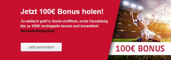 Tipico Bonus Banner 100 Euro